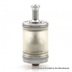 ShenRay TF Taifun GTR Style MTL RTA Rebuildable Tank Atomizer - Silver, 316 Stainless Steel + PC, 4.5ml, 25mm Diameter