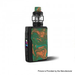 Authentic Vandy Vape Swell 188W VW Variable Wattage Box Mod + Tank Waterproof Kit - Swamp Green, 5~188W, 2 x 18650