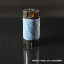 Authentic Ultroner Mini Stick Tube Mechanical Mod - Black + Blue, SS + Stabilized Wood, 1 x 18350