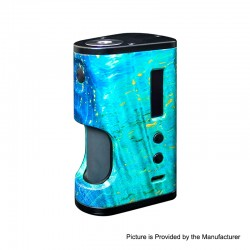 Authentic ULTRONER Aether Squonker 80W TC VW Variable Wattage Box Mod - Blue, 5~80W, 1 x 18650