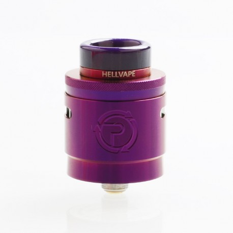 Authentic Hellvape Passage RDA Rebuildable Dripping Atomizer w/ BF Pin - Purple, Stainless Steel, 24mm Diameter
