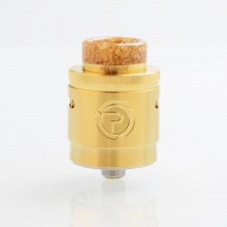 Authentic Hellvape Passage RDA Rebuildable Dripping Atomizer w/ BF Pin - Gold, Stainless Steel, 24mm Diameter