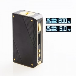 Authentic Ehpro Cold Steel 200 TC VW Variable Wattage Box Mod - Black + Gold, Stainless Steel, 5~200W, 2 x 18650