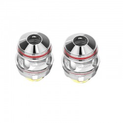 Authentic Uwell Valyrian 2 II Quadruple Meshed Coil Head - Silver, Stainless Steel, 0.15ohm (100~120W) (2 PCS)