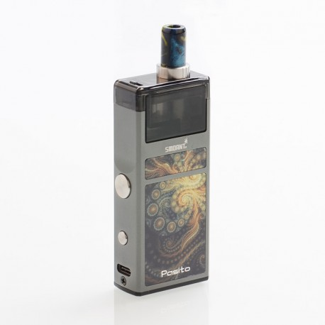 Authentic Smoant Pasito 25W 1100mAh Mod Pod System Starter Kit - Gun Metal, 3ml