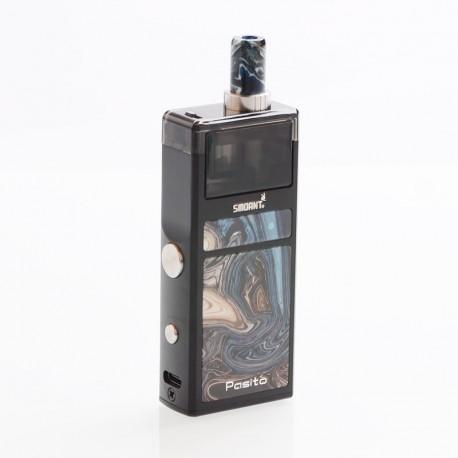Authentic Smoant Pasito 25W 1100mAh Mod Pod System Starter Kit - Carbon Black, 3ml
