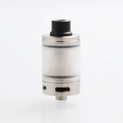 YFTK Skyline Short Style RTA Rebuildable Tank Atomizer - Silver, 2ml, 316 Stainless Steel, 22mm Diameter