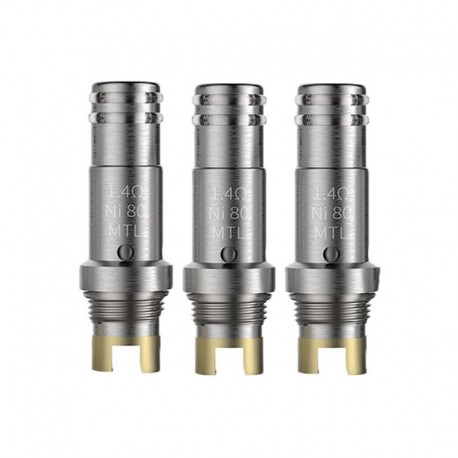 Authentic Smoant Pasito Pod Replacement MTL Ni80 Coil Head - Silver, 1.4ohm (10~13W) (3 PCS)