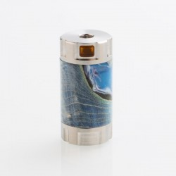 Authentic Ultroner Mini Stick Tube MOSFET Semi-Mechanical Mod - Silver + Blue, SS + Stabilized Wood, 1 x 18350