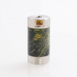 Authentic Ultroner Mini Stick Tube Mechanical Mod - Silver + Black Yellow, SS + Stabilized Wood, 1 x 18350