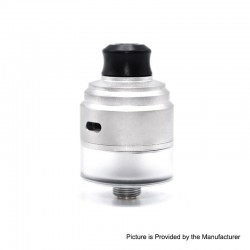 Authentic Gas Mods HALA RDTA Rebuildable Dripping Tank Atomizer w/ BF Pin - Silver, Stainless Steel, 22mm