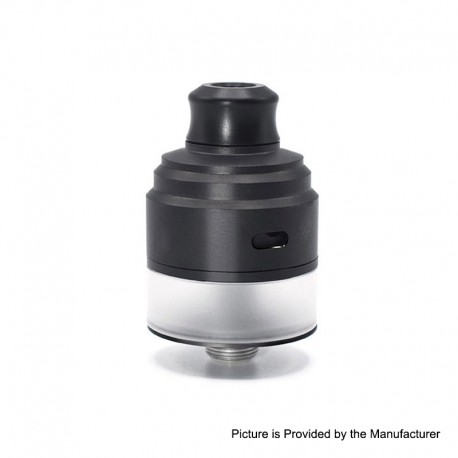 Authentic Gas Mods HALA RDTA Rebuildable Dripping Tank Atomizer w/ BF Pin - Black, Stainless Steel, 22mm