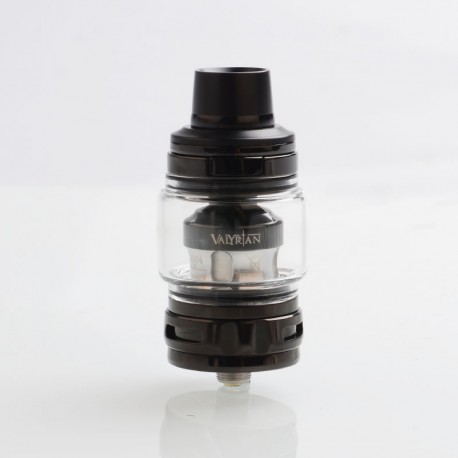 Authentic Uwell Valyrian 2 II Sub Ohm Tank Atomizer - Black, SS + Pyrex Glass, 6ml, 0.32ohm, 29mm Diameter