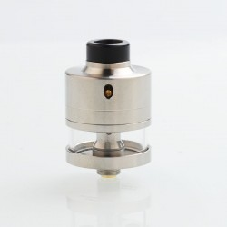 ShenRay Haku Riviera Style RDTA Rebuildable Dripping Tank Atomizer w/ BF Pin - Silver, 24mm Diameter, 316 Stainless Steel