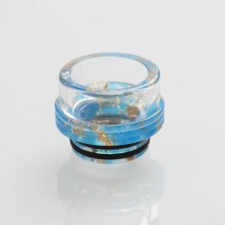 810 Drip Tip for TFV8 / TFV12 Tank / Goon / Kennedy / Reload RDA - Blue, Glass, 13.2mm