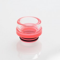 810 Drip Tip for TFV8 / TFV12 Tank / Goon / Kennedy / Reload RDA - Red, Glass, 13.1mm
