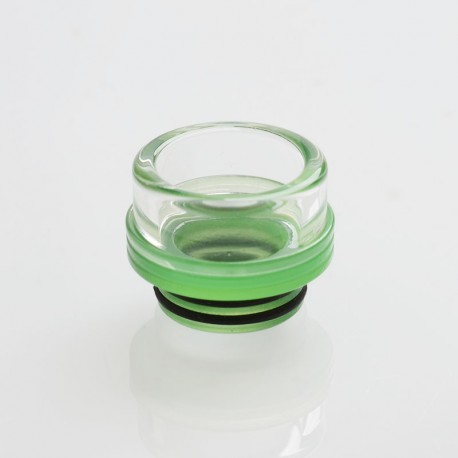 810 Drip Tip for TFV8 / TFV12 Tank / Goon / Kennedy / Reload RDA - Green, Glass, 13.1mm