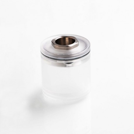 ShenRay Four One Five 415 RTA Short Tank + 510 Drip Tip Adapter Set - Translucent + Silver, PC + Stainless Steel, 2ml, 22mm