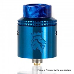 Authentic Kaees Alexander RDA Rebuildable Dripping Atomizer w/ BF Pin - Blue, Stainless Steel, 24mm