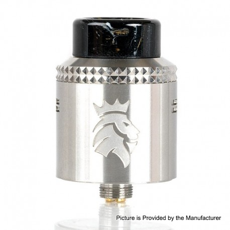 Authentic Kaees Alexander RDA Rebuildable Dripping Atomizer w/ BF Pin - Silver, Stainless Steel, 24mm