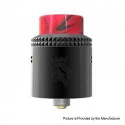Authentic Kaees Alexander RDA Rebuildable Dripping Atomizer w/ BF Pin - Black, Stainless Steel, 24mm