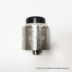 Exile Style RDA Rebuildable Dripping Atomizer w/ BF Pin - Silver, 25mm Diameter, Stainless Steel