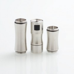 DDP Trio Style Mechanical Tube Mod - Silver, Stainless Steel, 1 x 18650 / 18500 / 18350