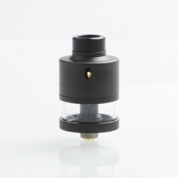 SXK Haku Riviera Style RDTA Rebuildable Dripping Tank Atomizer - Black, 316 Stainless Steel, 22mm Diameter