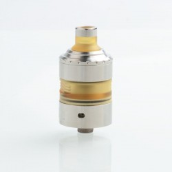 Coppervape Hussar Project X Style MTL RTA Rebuildable Tank Atomizer - Matte Silver, 316SS, 22.5mm
