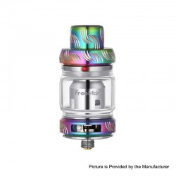 Authentic Freemax Mesh Pro Sub-Ohm Tank Clearomizer - Rainbow, SS + Glass, 5 / 6ml, 25mm Diameter
