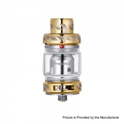 Authentic Freemax Mesh Pro Sub-Ohm Tank Clearomizer - Golden, SS + Glass, 5 / 6ml, 25mm Diameter