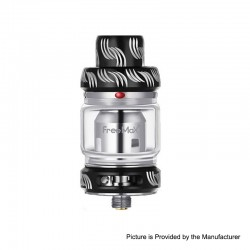 Authentic Freemax Mesh Pro Sub-Ohm Tank Clearomizer - Black, SS + Glass, 5 / 6ml, 25mm Diameter