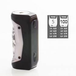 Authentic GeekVape Aegis Solo 100W TC VW Variable Wattage Box Mod - Gun Metal, 5~100W, 1 x 18650