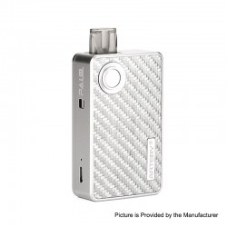 Authentic Artery Pal 2 1000mAh Pod System Starter Kit - Silver, Aluminum + Carbon Fiber, 2ml, 0.6ohm / 1.2ohm