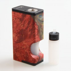 [Ships from Germany] Authentic Asmodus Luna 80W Squonk Box Mod - Red, Aluminum + Stabilized Wood, 1 x 18650, 6ml