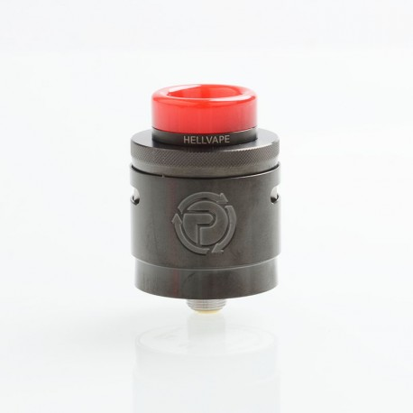Authentic Hellvape Passage RDA Rebuildable Dripping Atomizer w/ BF Pin - Gun Metal, Stainless Steel, 24mm Diameter