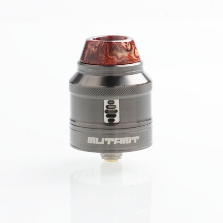 Authentic Vandy Vape Mutant RDA Rebuildable Dripping Atomizer w/ BF Pin - Gun Metal, Stainless Steel, 25mm Diameter