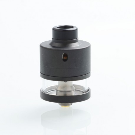ShenRay Haku Riviera Style RDTA Rebuildable Dripping Tank Atomizer w/ BF Pin - Frosted Black, 24mm Diameter, 316 Stainless Steel