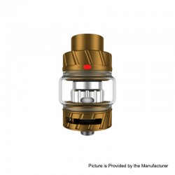 Authentic FreeMax Fireluke 2 Metal Sub Ohm Tank Clearomizer - Golden, Stainless Steel + Pyrex, 5ml, 0.2ohm, 28mm Diameter