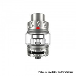 Authentic FreeMax Fireluke 2 Metal Sub Ohm Tank Clearomizer - Silver, Stainless Steel + Pyrex, 5ml, 0.2ohm, 28mm Diameter