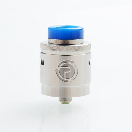 Authentic Hellvape Passage RDA Rebuildable Dripping Atomizer w/ BF Pin - Silver, Stainless Steel, 24mm Diameter