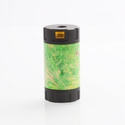 Authentic Ultroner Mini Stick Tube MOSFET Semi-Mechanical Mod - Black + Green, SS + Stabilized Wood, 1 x 18350
