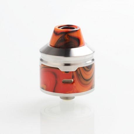 Authentic Aleader Rocket RDA Rebuildable Dripping Atomizer - Orange, SS + Resin, 24mm Diameter