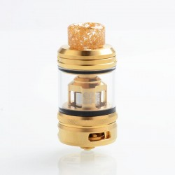 Authentic OFRF NexMesh Sub-Ohm Tank Atomizer - Golden, 4ml / 5ml, 0.2ohm, 25mm Diameter