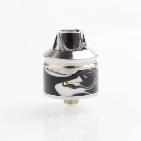 Authentic Aleader Rocket RDA Rebuildable Dripping Atomizer - Black, SS + Resin, 24mm Diameter