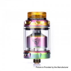 Authentic ThunderHead Creations THC Tauren One RTA Rebuildable Tank Atomizer - Rainbow, 2.0 / 4.5ml, 24mm Diameter