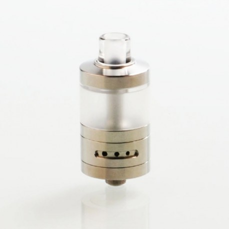 SXK VWM Integra Style RTA Rebuildable Tank Atomizer - Silver, 316 Stainless Steel + PC, 4.2ml, 22mm Diameter