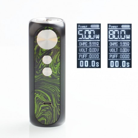 Authentic OBS Cube X 80W VW Variable Wattage Box Mod - Firefly, 3.2~4.2V, 1 x 18650