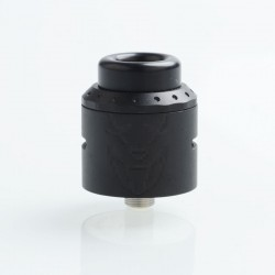 Exile Style RDA Rebuildable Dripping Atomizer w/ BF Pin - Black, 25mm Diameter, Stainless Steel