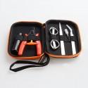 Authentic Vapor Storm V2 DIY Tool Kit for RDA / RTA / RDTA - Pliers, Tweezers, Coil Brush, Scissors, Coil Jig, Screwdriver